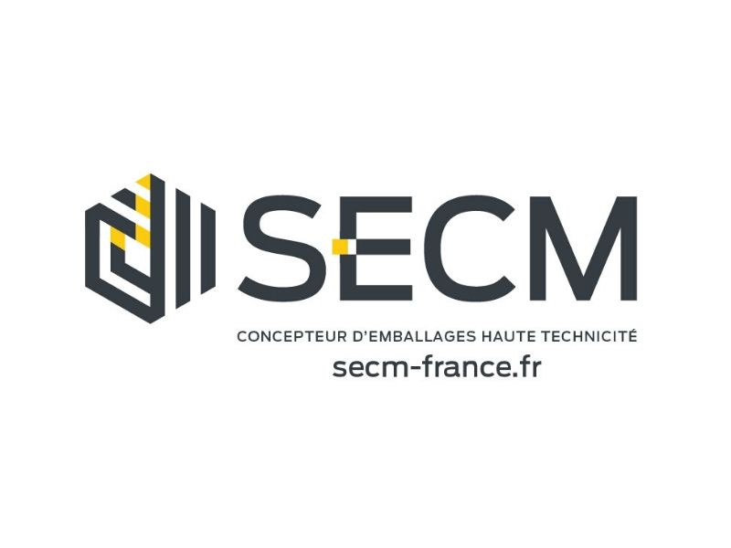 The logo of SECM Which support the Museum of natural history of Bordeaux during his crownfunding for Kata Kata a black rhinoceros.